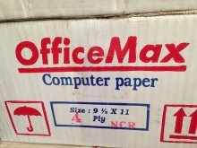 Continuos Form Office Max 91/2 inch X 11 inch,4 Ply