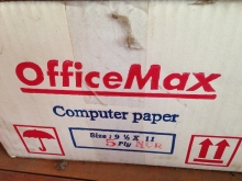 Continuos Form Office Max 91/2 inch X 11 inch,5Ply